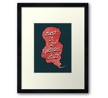 exist in a gaseous state Framed Print