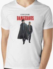 Could Be Dangerous Mens V-Neck T-Shirt