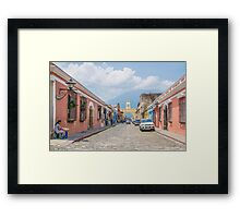 A Street in the Old Town Area of Antigua, Guatemala Framed Print