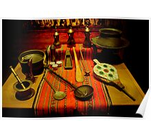 Traditional Arabic Kitchen Tools Poster