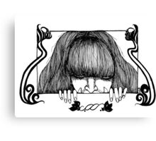 Paper Doll Peeper Canvas Print