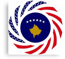Kosovar American Multinational Patriot Flag Series Canvas Print