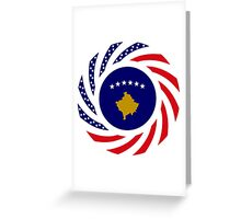 Kosovar American Multinational Patriot Flag Series Greeting Card