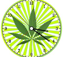 Cannabis clock by Laschon Robert Paul