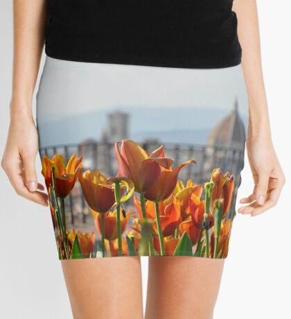 Florence Duomo in Spring Mini Skirt
