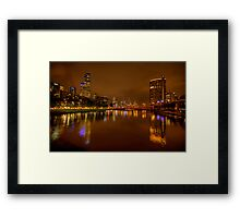 Night Lights - Yarra , Melbourne - The HDR Experience Framed Print
