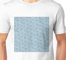 Chinese Flowers - Red on Blue Unisex T-Shirt