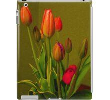 Tulips Against Green iPad Case/Skin