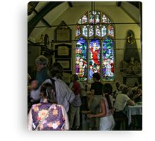 Church window in York Canvas Print