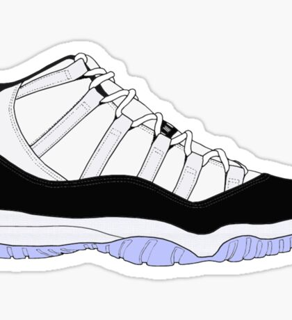 "Air Jordan XI (11) ""Concord"" Sticker"
