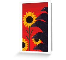 A Murder In The Fields Greeting Card