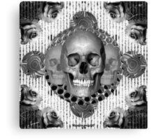 dark skull Canvas Print