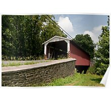 Spanning the Pequea Poster