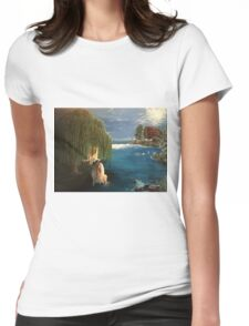 Angel Lake Womens Fitted T-Shirt