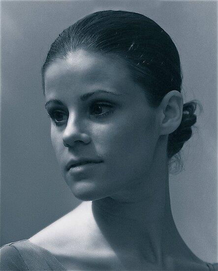 Portrait of NYC Ballet great, Merrill Ashley by Daniel Sorine