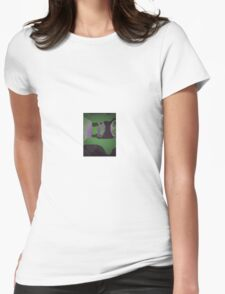 A Broken Peaceful Green Day Womens Fitted T-Shirt