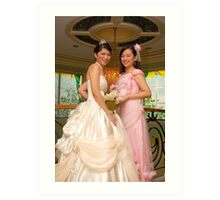 bride's maid and bridal gown design 11 Art Print