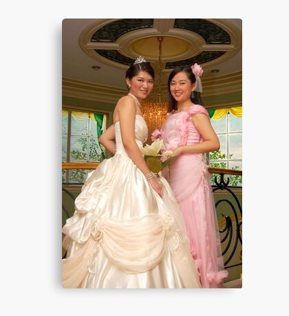 bride's maid and bridal gown design 11 Canvas Print