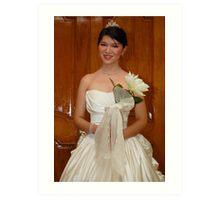 bridal gown design 12 Art Print