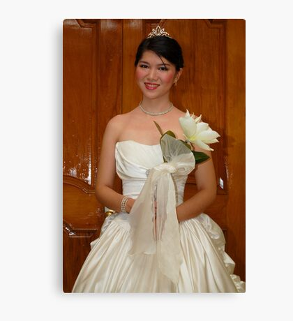 bridal gown design 12 Canvas Print