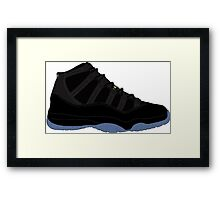 "Air Jordan XI (11) ""Gamma Blue"" Framed Print"