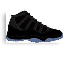 "Air Jordan XI (11) ""Gamma Blue"" Canvas Print"