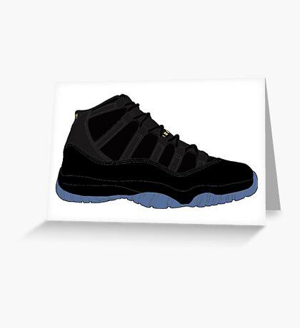 """Air Jordan XI (11) """"Gamma Blue"""" Greeting Card"""