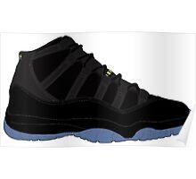 """Air Jordan XI (11) """"Gamma Blue"""" Poster"""