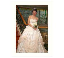 bridal gown design 13 Art Print