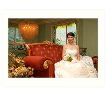 bridal gown design 14 Art Print