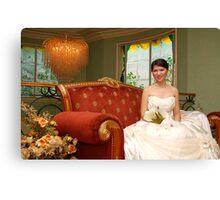 bridal gown design 14 Canvas Print
