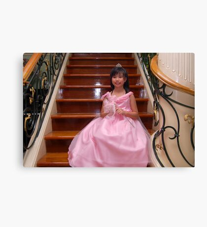 flower girl gown design 15 Canvas Print