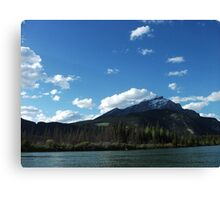 Canoeing on the Bow River Canvas Print