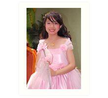 flower girl gown design 17 Art Print