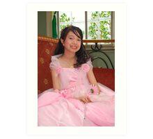 flower girl gown design 18 Art Print