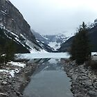 Frozen Lake Louise by hollaay