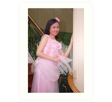 bride's maid gown design 21 Art Print