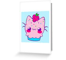 Kawaii Cupcake Kitty Greeting Card