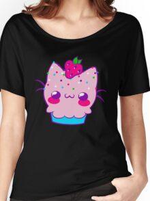 Kawaii Cupcake Kitty Women's Relaxed Fit T-Shirt