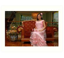 bride's maid gown design 23 Art Print