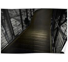 Eiffel tower stairs Poster