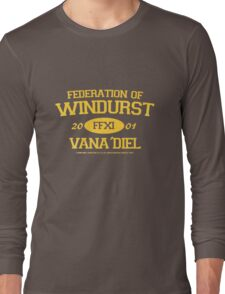 Final Fantasy XI: Windurst (Gold Lettering) Long Sleeve T-Shirt