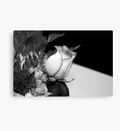 Monochrome Rose... Canvas Print