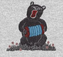 Music in the Heart, Bear with Blue Accordion Kids Clothes
