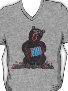 Music in the Heart, Bear with Blue Accordion T-Shirt