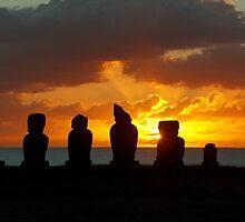 Moai Silhouette, Easter Island by Martyn Baker | Martyn Baker Photography