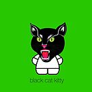 black cat kitty by designsalive