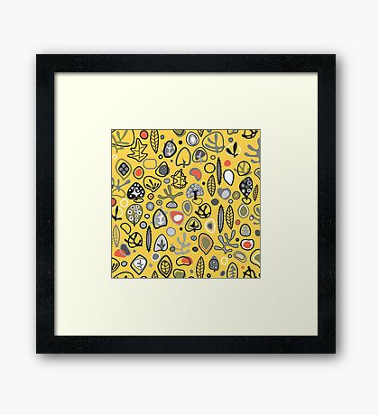 Fab fifties abstract design  Framed Print