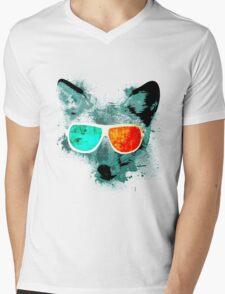 3D Fox Vision Mens V-Neck T-Shirt