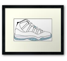 "Air Jordan XI (11) ""Legend Blue"" Framed Print"